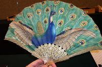Thomasse peacock, photographed at a Christie`s auction, South Kensington