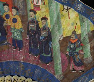 detail of Mandarin fan 3
