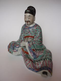 Chinese famille rose figure, 19th C