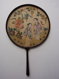 Chinese silk embroidery screen