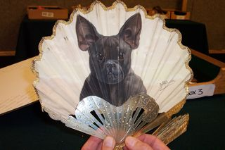 Thomasse French bulldog, photographed at Christie`s, South Kensington